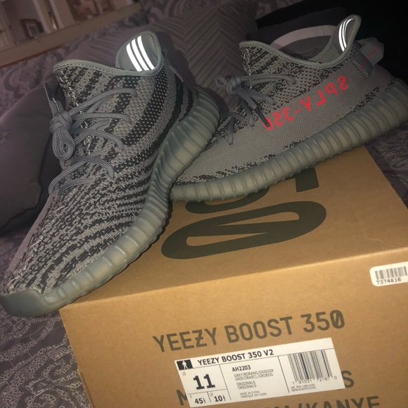 """(AUTHENTIC)YEEZY BOOST 350 V2 """"beluga 2.0"""" used. M 5b7def288ad2f908f463d158 88637e643d17"""